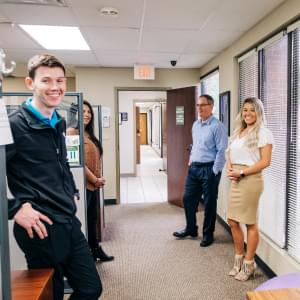 Team in hallway