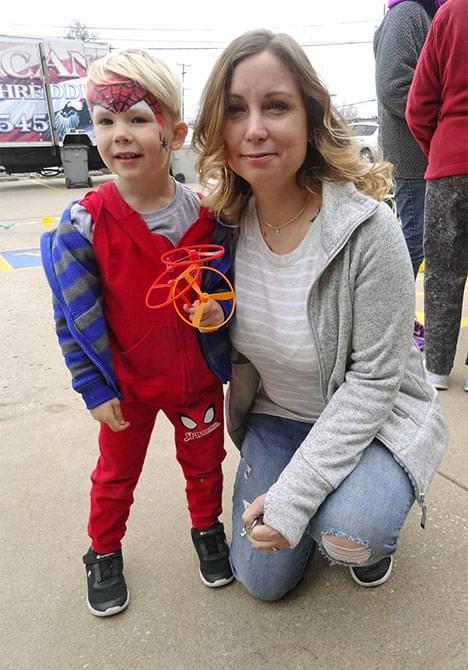 child dressed up like spider man