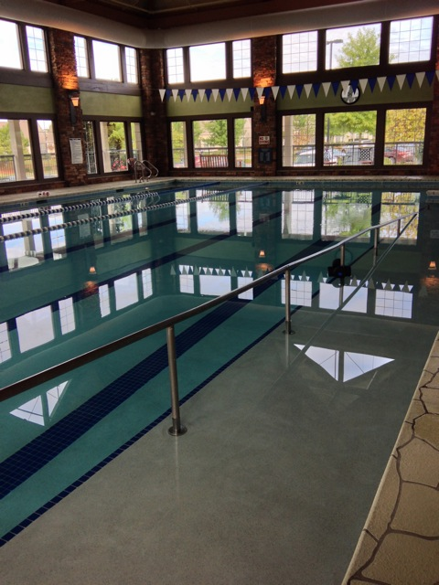 Carolina Arbors clubhouse pool with ramp entry
