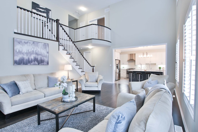 living room of beautiful new clayton home