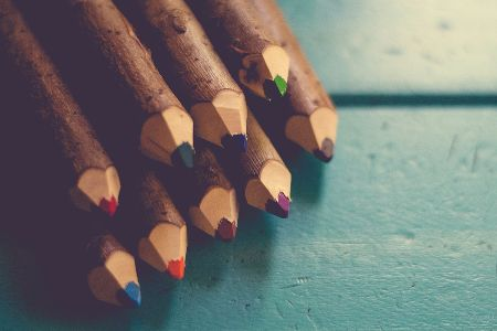 rustic colored pencils for art