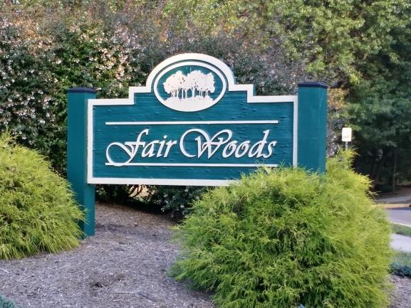 Fair Woods neighborhood entrance sign