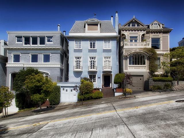 steep street in San Francisco neighborhood
