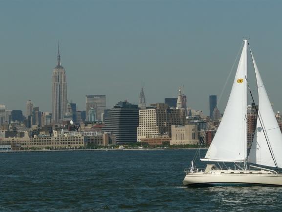 Enjoy breathtaking views over Manhattan from West New York.