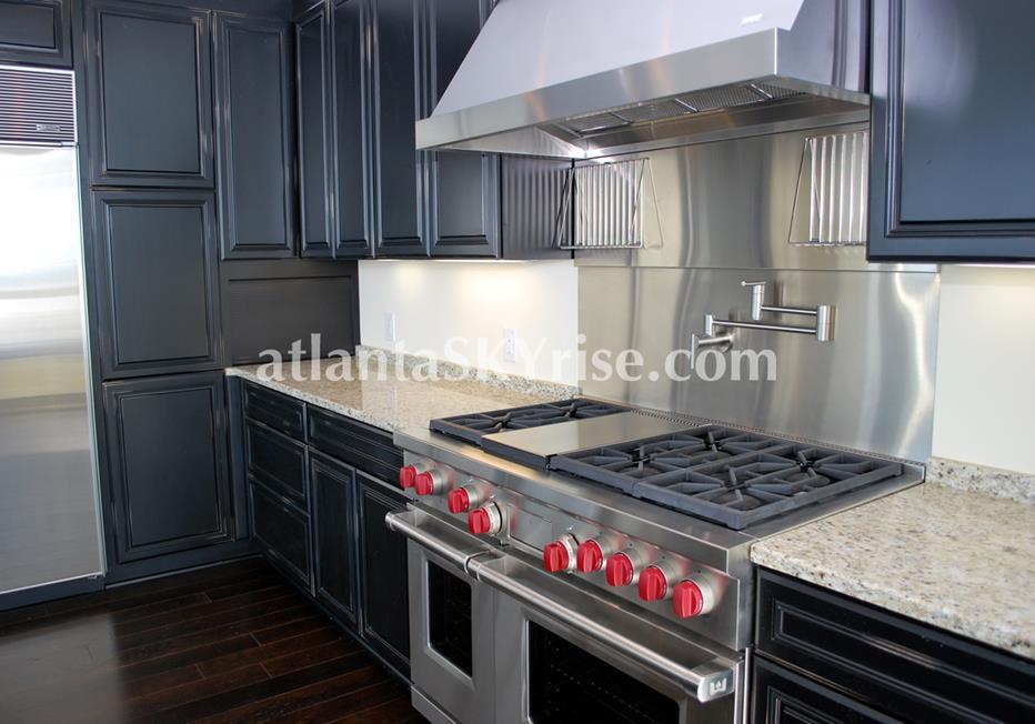 10 Terminus Place Buckhead Atlanta Condo Kitchen Range