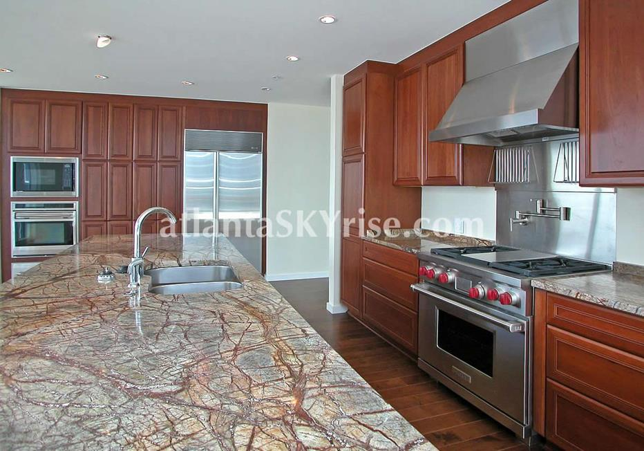 10 Terminus Place Buckhead Atlanta Condo Kitchen With Marble Countertops
