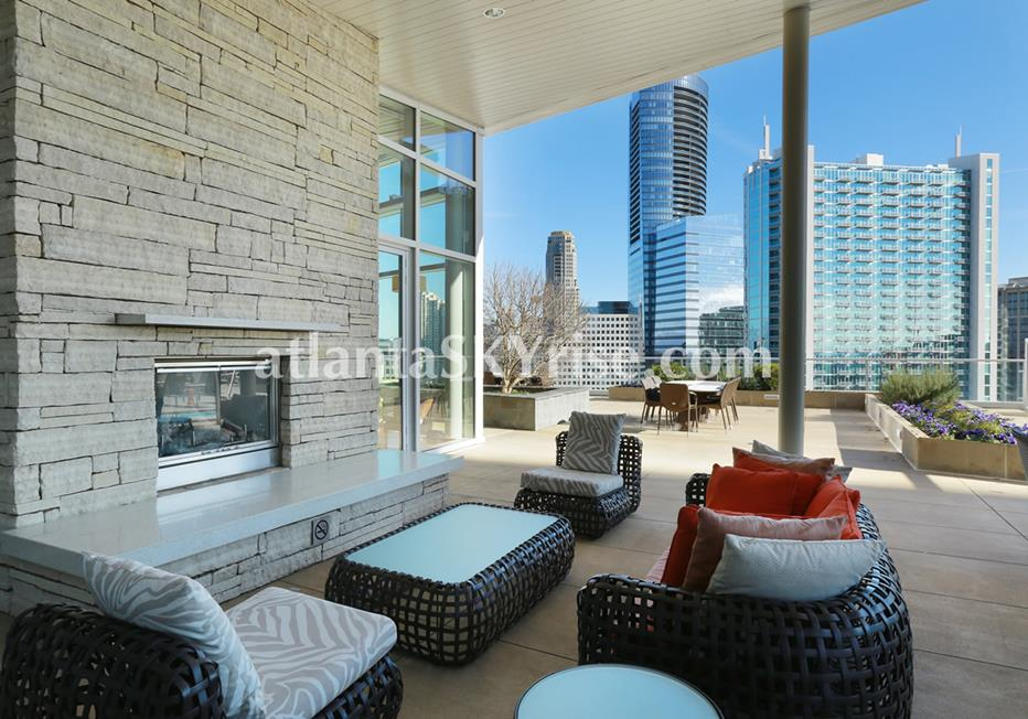 10 Terminus Place Buckhead Atlanta Condo Outdoor Space