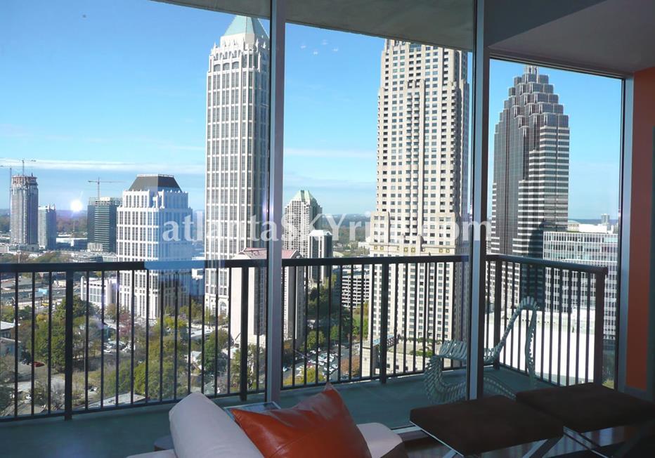 1010 Midtown Atlanta Condo Balcony With City Views