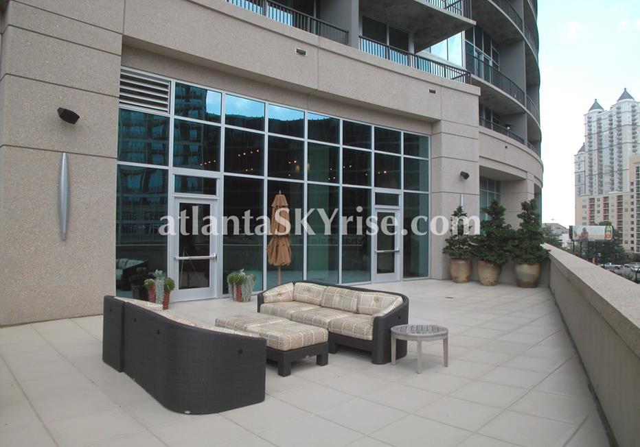 1010 Midtown Atlanta Condo Terrace