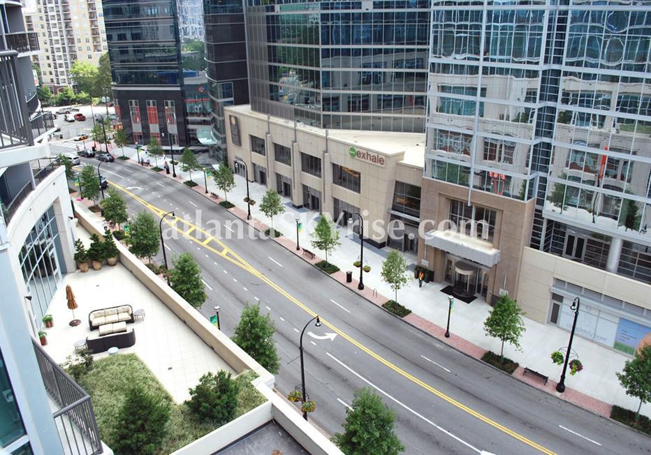 1010 Midtown Atlanta Condo Street Views