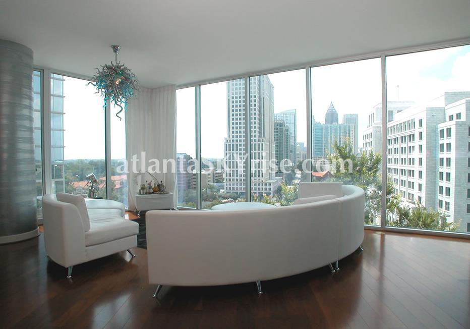 1010 Midtown Atlanta GA Condominium Living Room