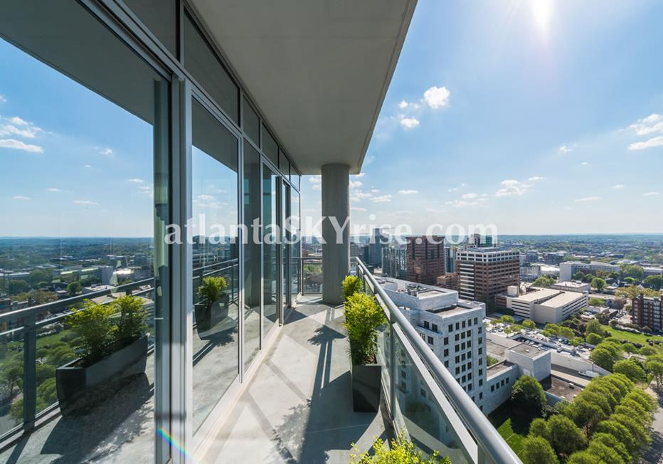 1065 Midtown at Loews Atlanta GA Condo View From Balcony