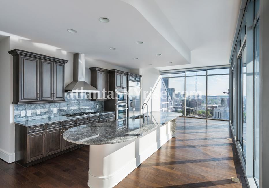1065 Midtown at Loews Atlanta Condo Kitchen With City Views