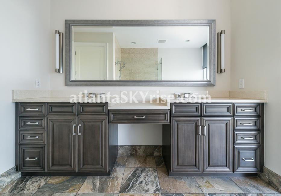 1065 Midtown at Loews Atlanta Condo Bathroom Double Vanity