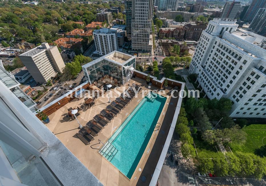 1065 Midtown at Loews Atlanta Beautiful Condo Community Pool