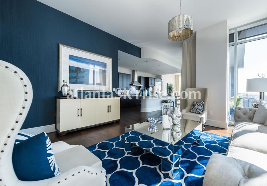 1065 Midtown at Loews Condo Living Room & Kitchen