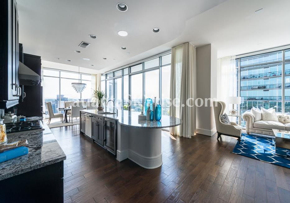 1065 Midtown at Loews Condo Kitchen & Dining Area With Views