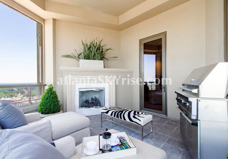 Mandarin Oriental Residences Buckhead Atlanta Condo Terrace WIth Views