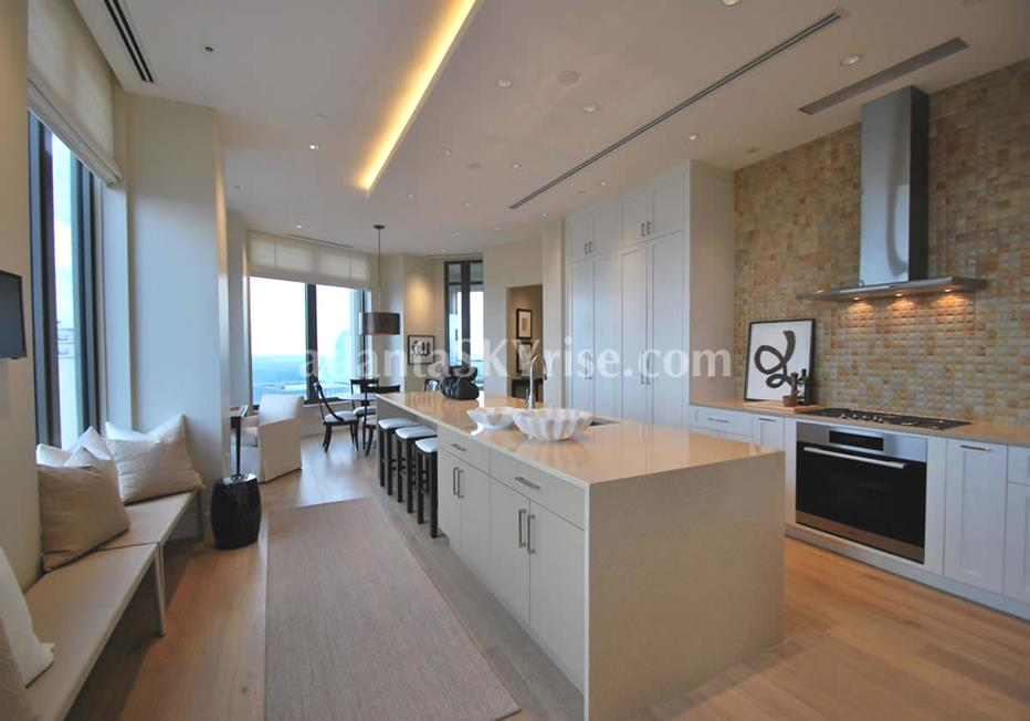 Mandarin Oriental Residences Buckhead Atlanta Condominium Kitchen With Seating