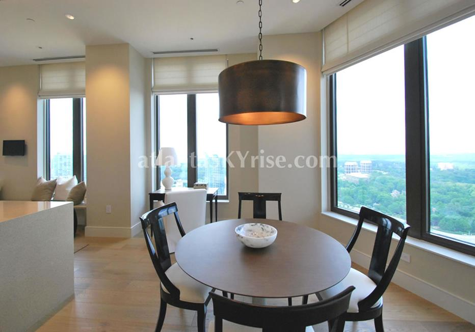 Mandarin Oriental Residences Buckhead Atlanta GA Condo Dining Room With Views