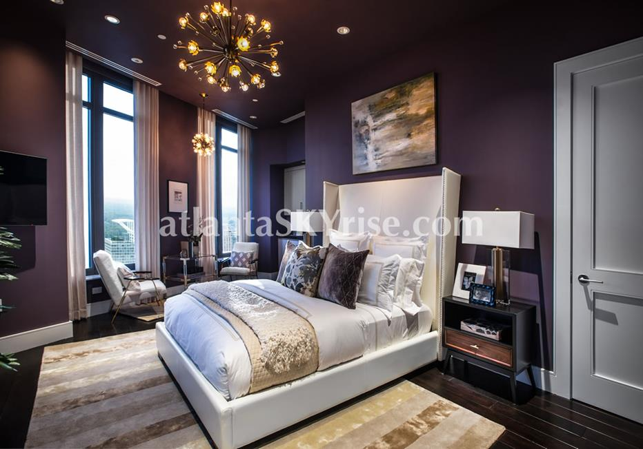 Mandarin Oriental Residences Buckhead Atlanta Condo Luxurious Bedroom