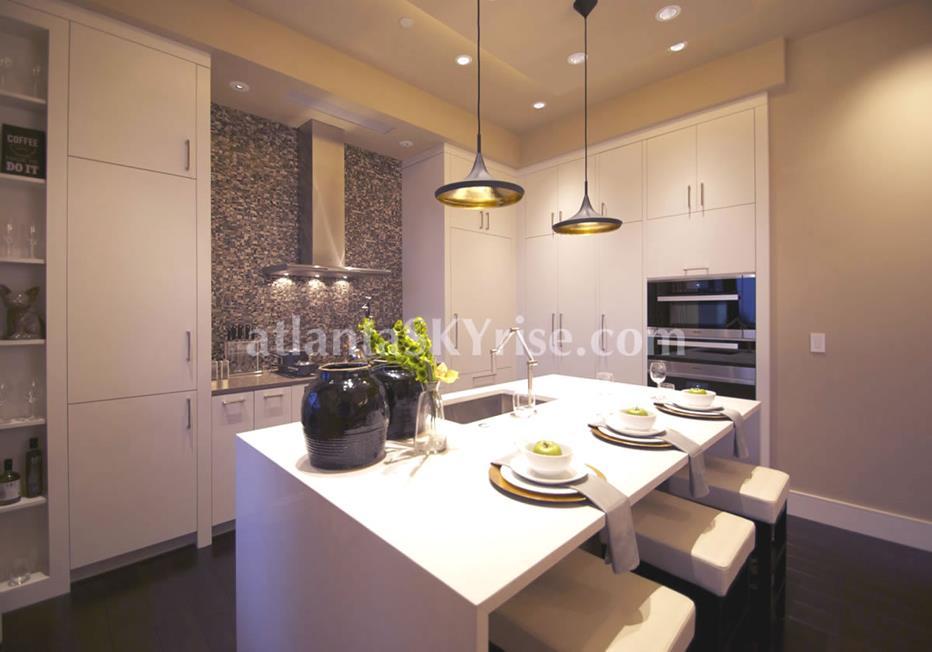 Mandarin Oriental Residences Buckhead Atlanta Condo Kitchen Island