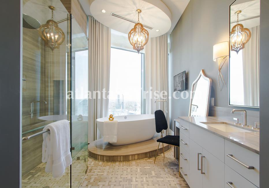 Mandarin Oriental Residences Buckhead Atlanta Condo Luxury Bathroom