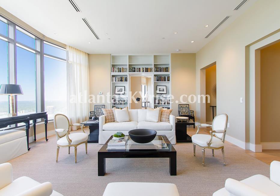 Mandarin Oriental Residences Buckhead Atlanta GA Condo Living Room