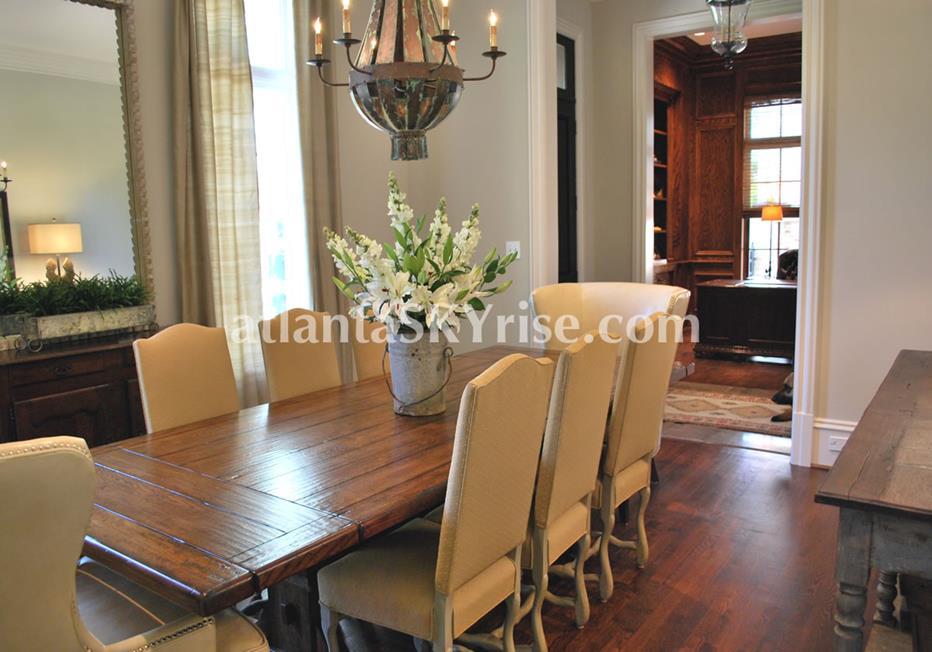 The Bellingrath Buckhead Atlanta GA Townhome Dining Room
