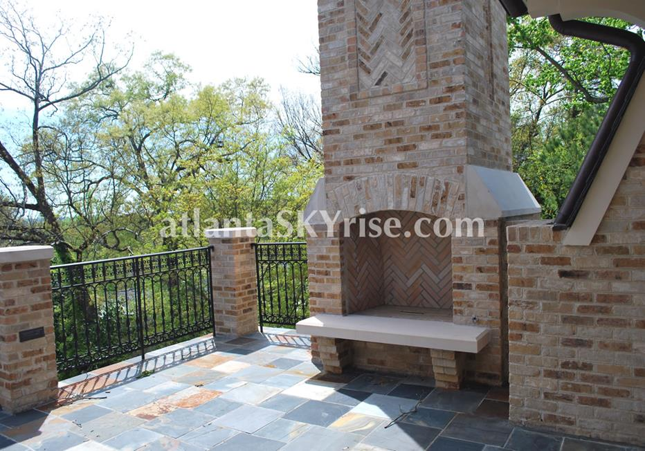 The Bellingrath Buckhead Atlanta Townhome Outdoor Fireplace