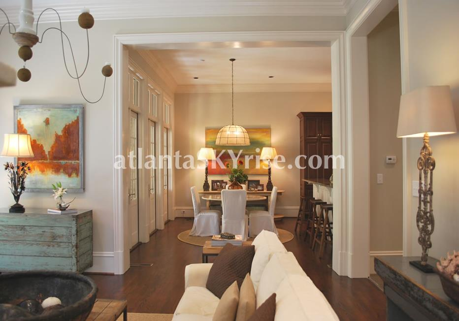 The Bellingrath Buckhead Atlanta GA Townhome Living and Dining Rooms