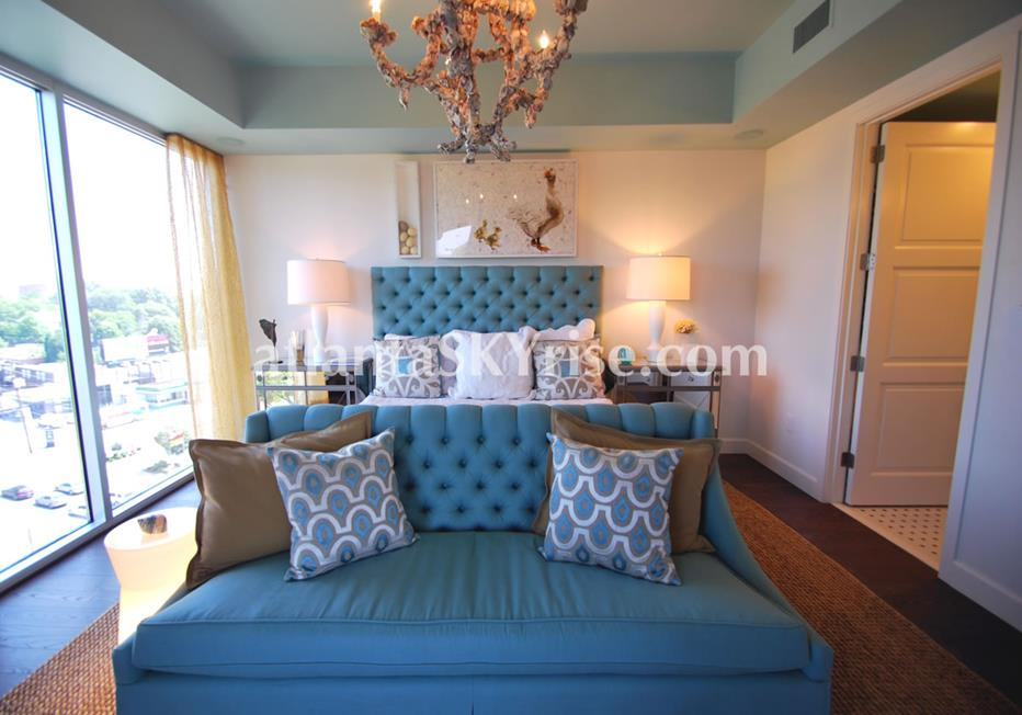 The Brookwood Midtown Atlanta Condo Luxurious Bedroom
