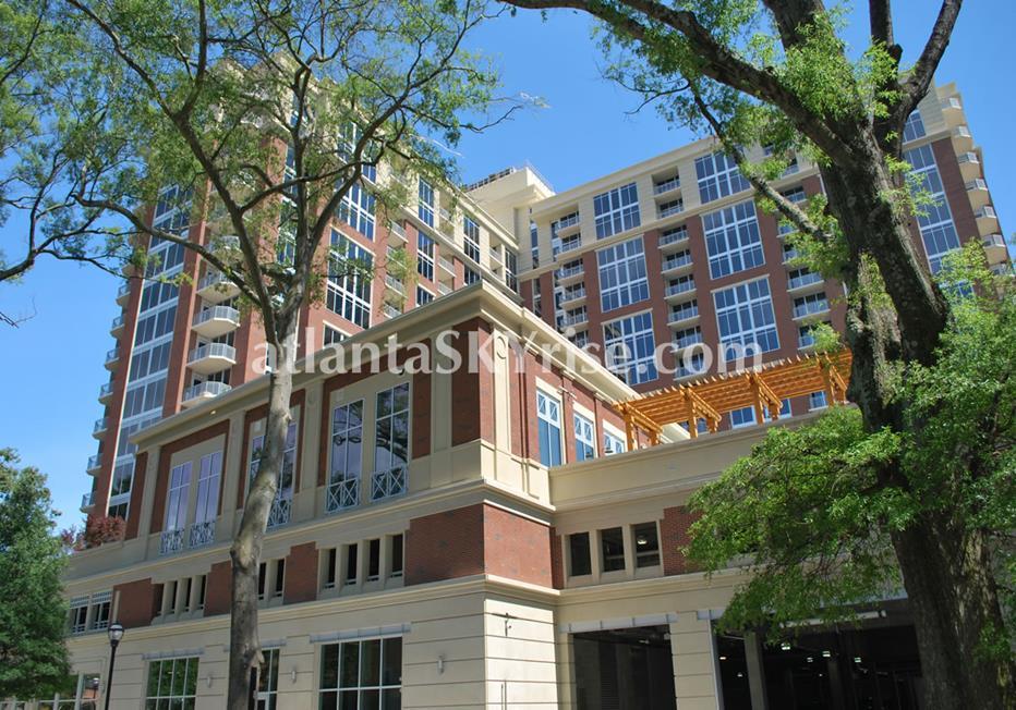 The Brookwood Midtown Atlanta Condo Building Entrance