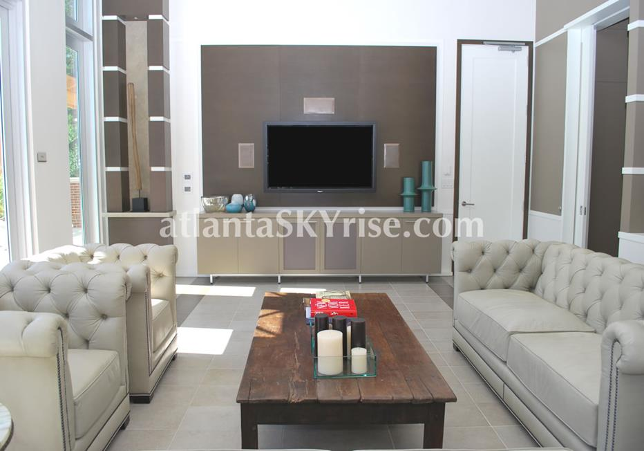 The Brookwood Midtown Atlanta Condo Modern Fireplace