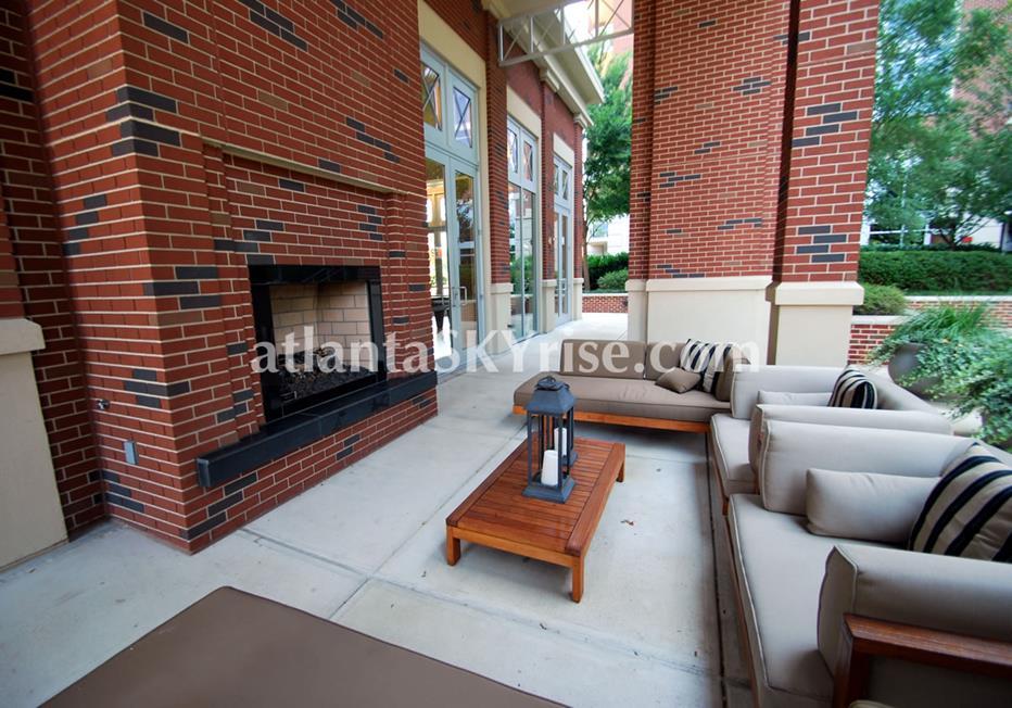 The Brookwood Midtown Atlanta Condo Outdoor Fireplace