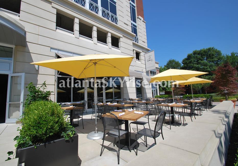 The Brookwood Midtown Atlanta Condominium Patio Tables