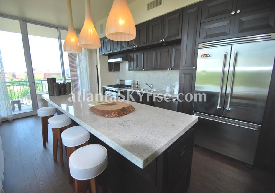The Brookwood Midtown Atlanta Condo Kitchen Island