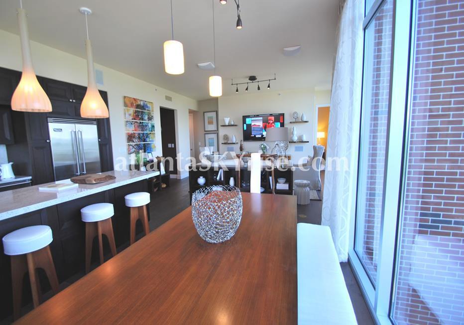 The Brookwood Midtown Atlanta Condo Dining Room