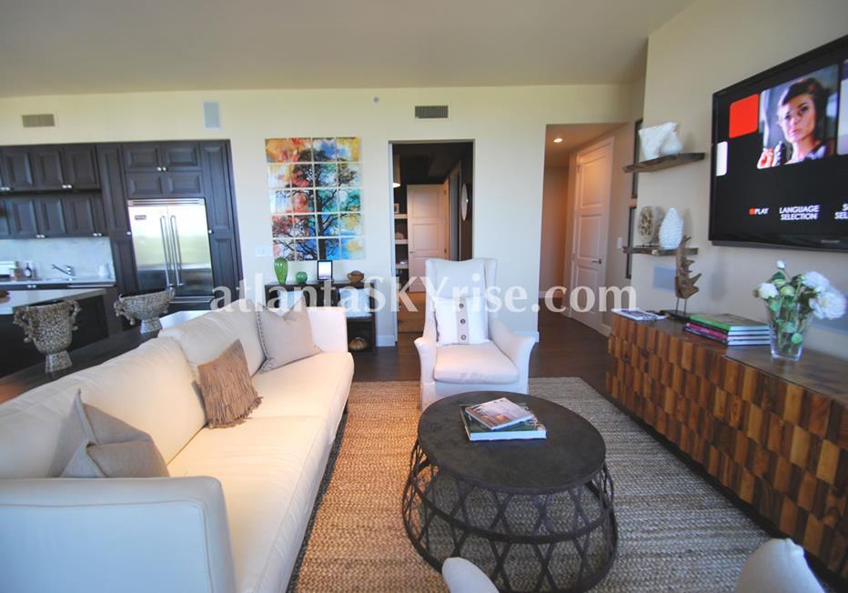 The Brookwood Midtown Atlanta GA Condo With Open Living Room