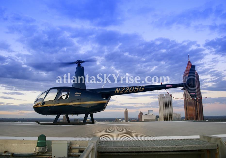 W Residences Downtown Atlanta Rooftop Helicopter Landing Pad