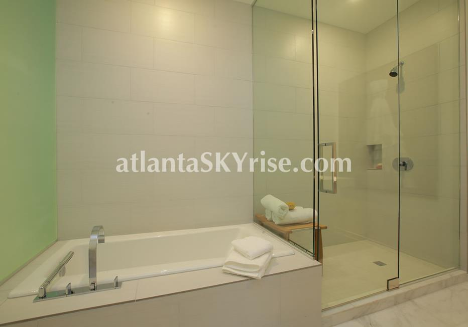 W Residences Downtown Atlanta Condo Luxurious Bathroom
