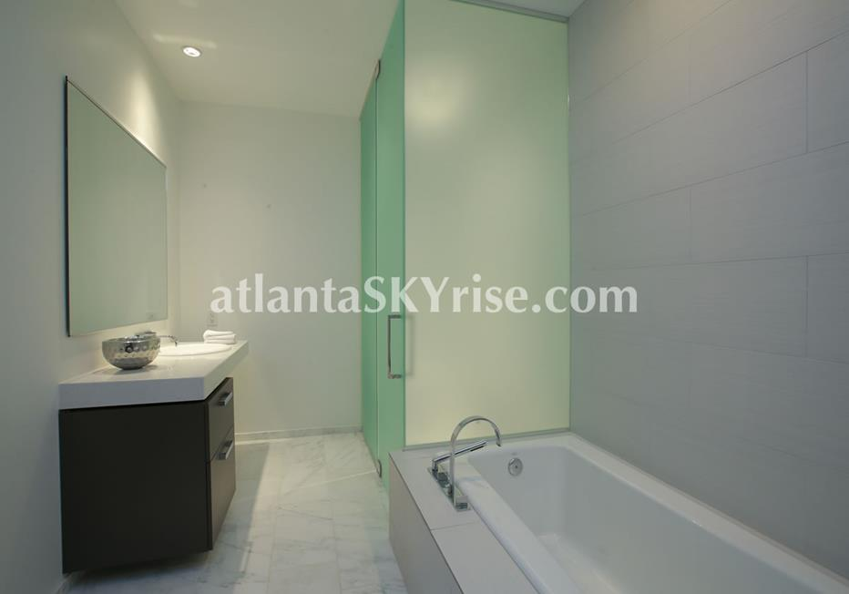 W Residences Downtown Atlanta Condo Spa Bathroom