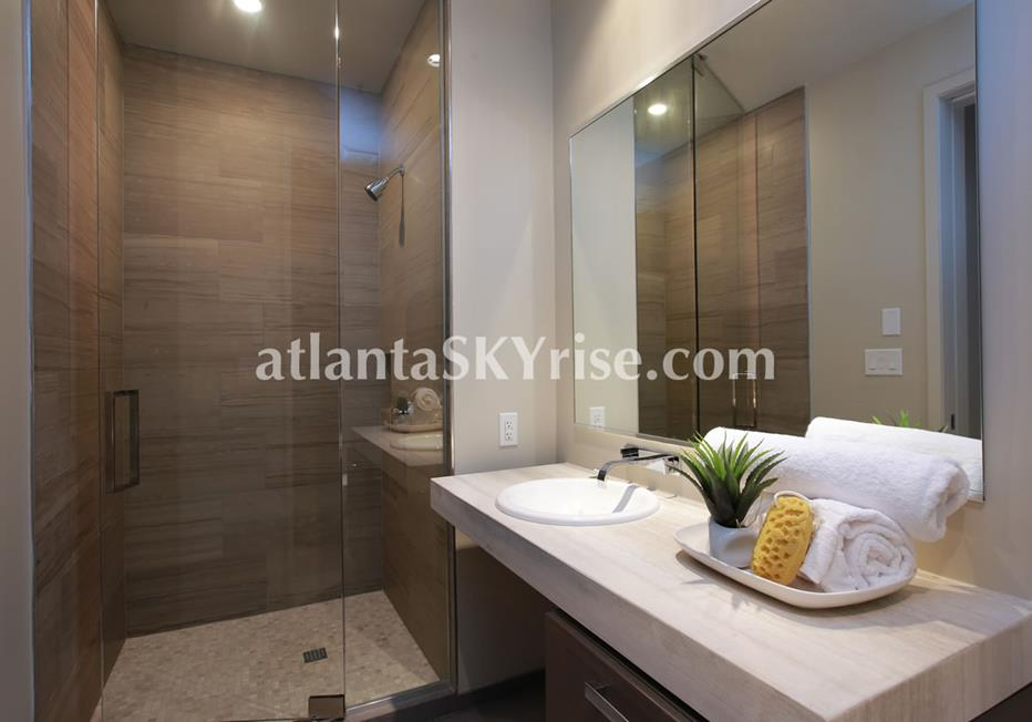 W Residences Downtown Atlanta Condo Bathroom