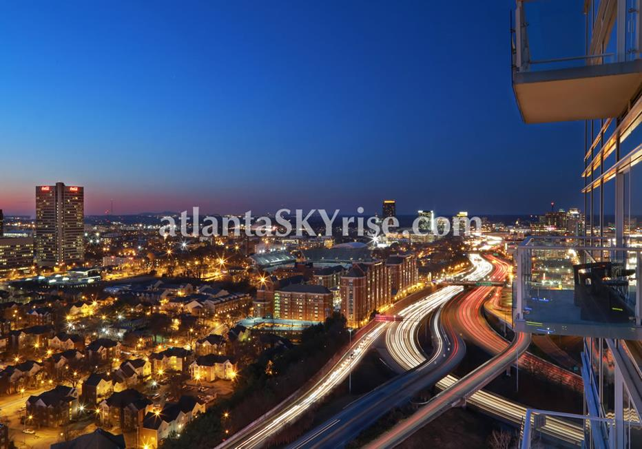 W Residences Downtown Atlanta Condo View of City Lights