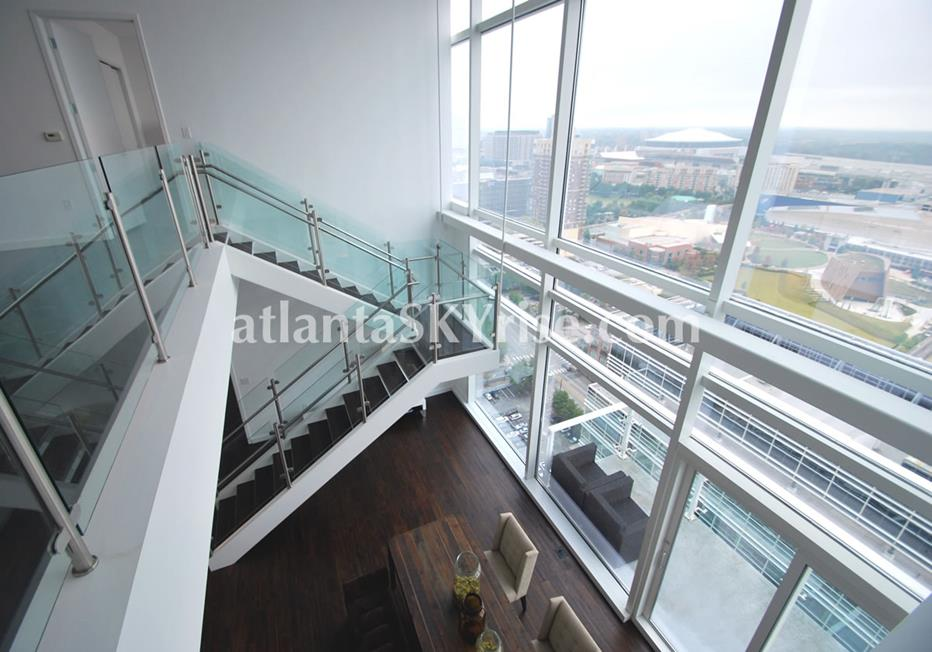 W Residences Downtown Atlanta Condo Stairway