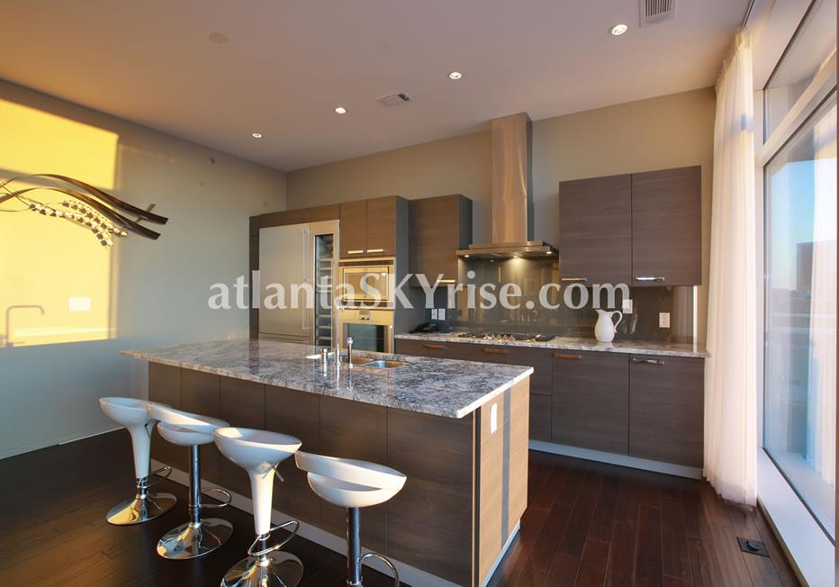 W Residences Downtown Atlanta GA Condo Kitchen