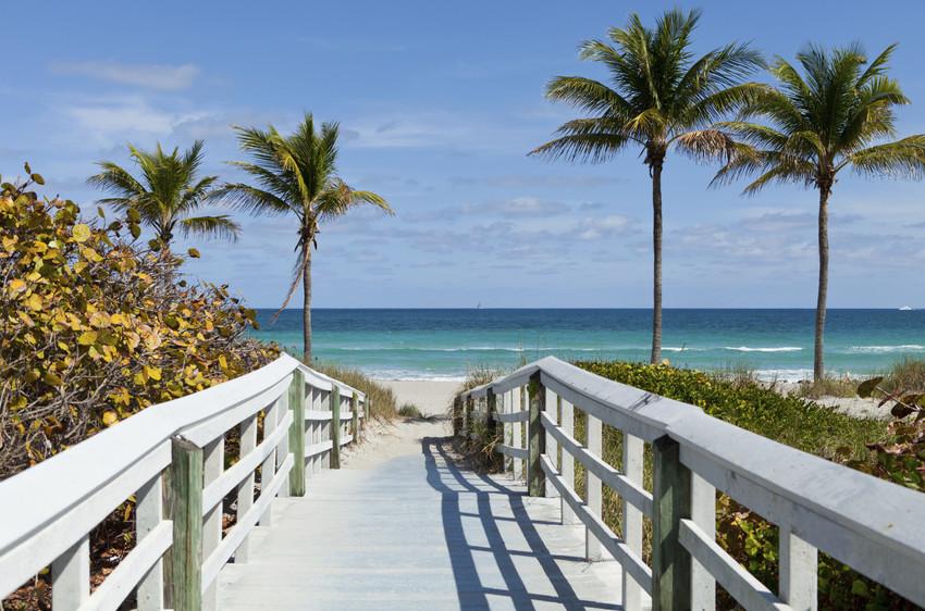 boardwalk to the Atlantic Ocean