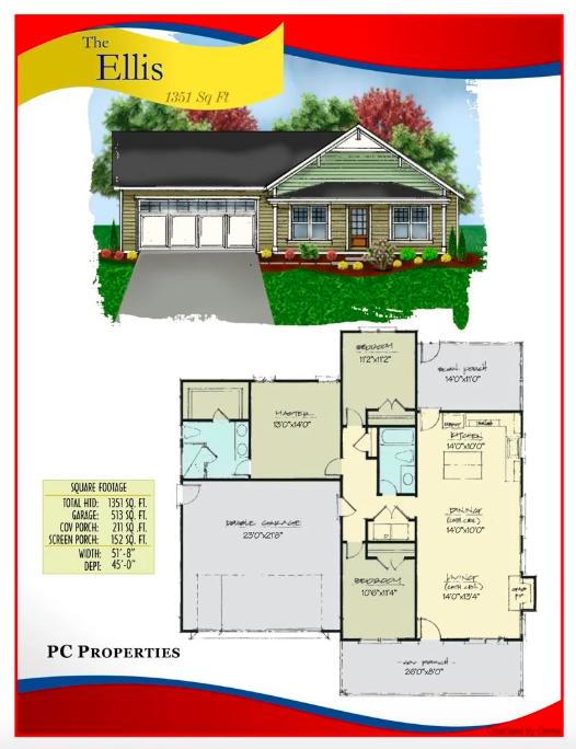 Floorplan for 104 Fields St