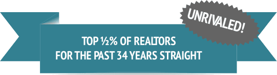 Unrivaled! Top 1/2% of realtors for the past 24 years straight