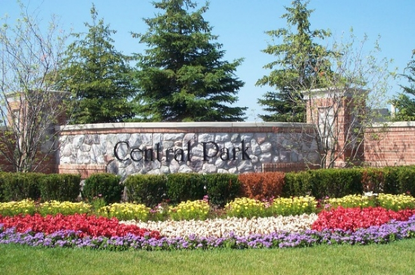 Central Park Estates Neighborhood Sign In Canton, MI